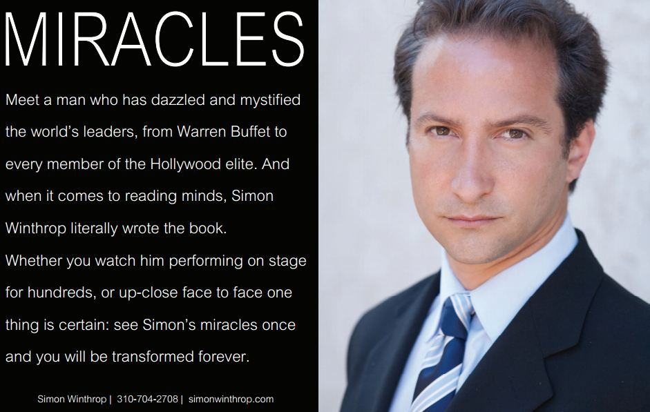 Las Vegas magician Simon Winthrop miracles
