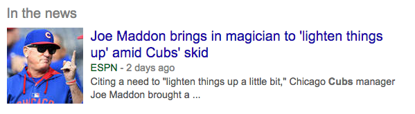 Joe Maddon brings in magician Simon Winthrop to 'lighten things up' amid Cubs' skid