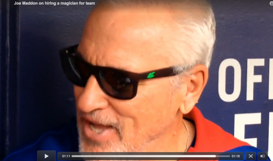 Joe Maddon shocked by magic